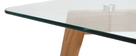 Table basse design contemporain verre et chêne DAVOS