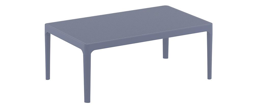 Table basse design intérieur / extérieur gris OSKOL