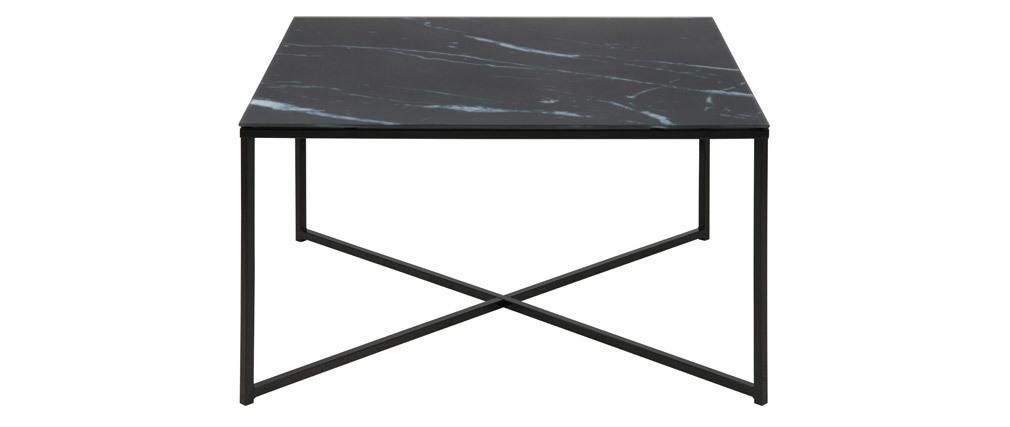 Table basse effet marbre noir ALCINO