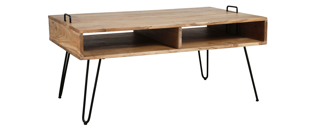 Table basse en bois d