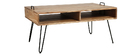 Table basse en bois d'acacia et métal noir ALVIN
