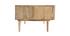 Table basse en manguier massif avec portes coulissantes ALBA - Miliboo & Stéphane Plaza