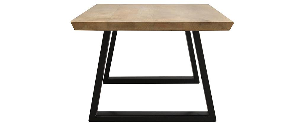 Table basse en manguier massif et métal noir VIJAY