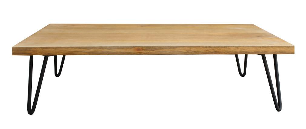 Table basse en manguier massif et métal VIBES