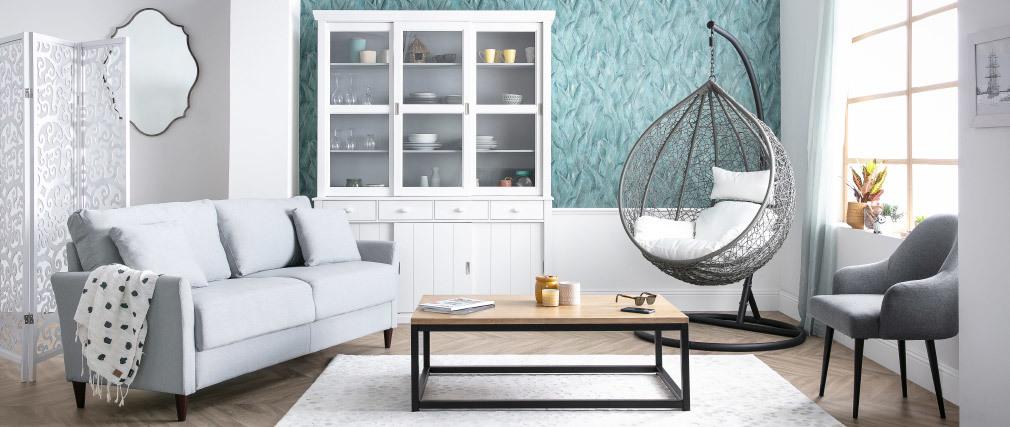 Table basse industrielle bois métal rectangulaire FACTORY