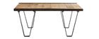 Table basse industrielle manguier massif INDUSTRIA