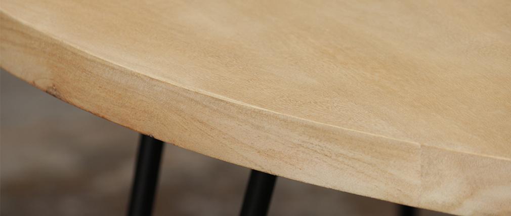 Table basse ovale en manguier massif L100 cm VIBES