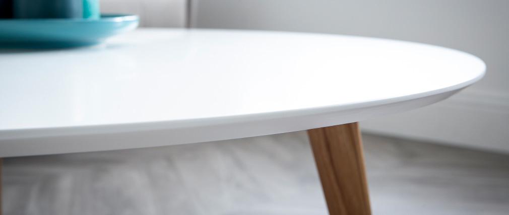 Table basse ronde 100 cm blanc EKKA
