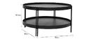 Table basse ronde finition chêne noir et métal D80 cm TWICE