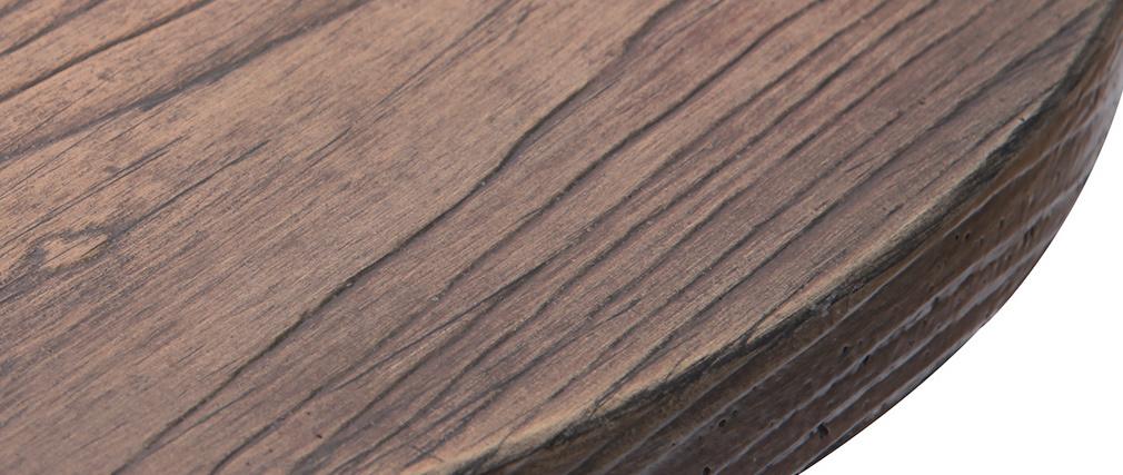 Table bistrot haute ronde bois et métal CONTY