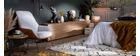 Table d'appoint bois et métal L42 x H40 cm LACE