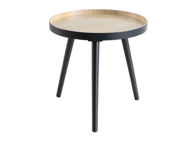 Table d'appoint scandinave bois anthracite NINO