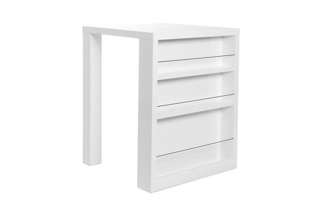 Table de bar design laquée blanc LIVO - Miliboo