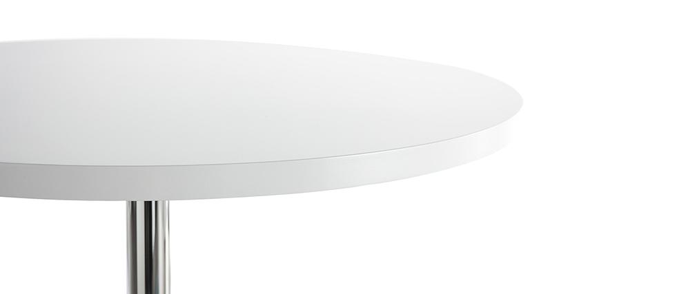 Table de bar design ronde blanche JAMES