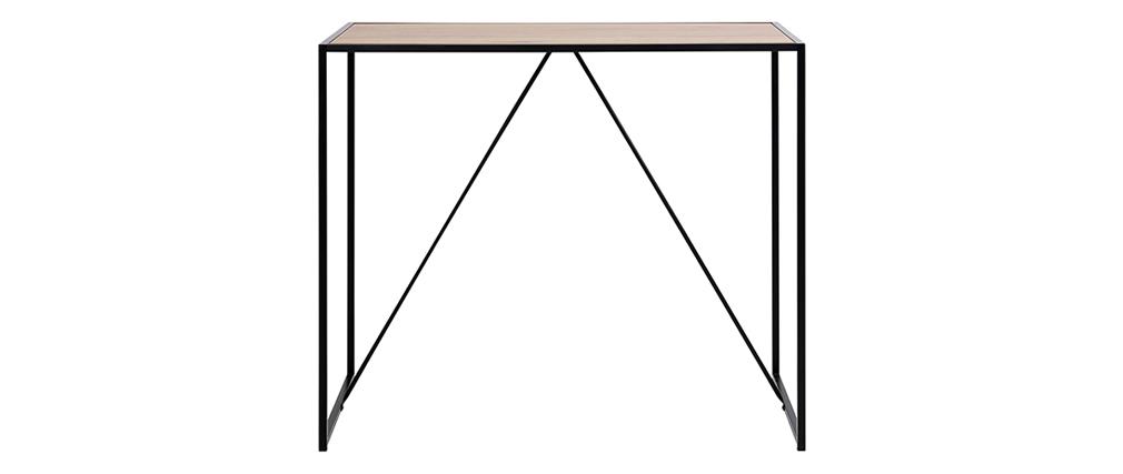 Table de bar en bois et pieds en métal noir TRESCA