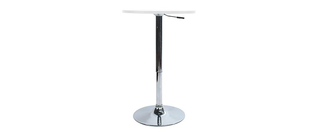 Table de bar réglable en hauteur / mange debout CHARLIE blanc
