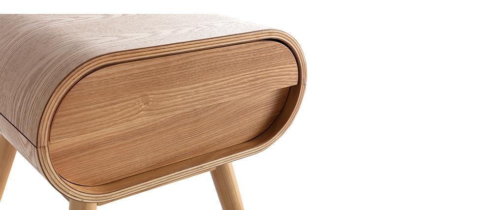 Table de chevet design frêne 1 tiroir BJORG