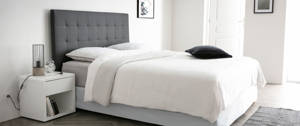 Table de chevet design laquée blanche ELIO