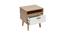 Table de chevet design scandinave blanc et chêne HELIA