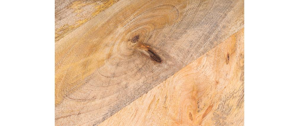 Table de chevet industrielle en manguier massif INDUSTRIA