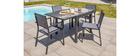 Table de jardin extensible gris anthracite L90-180 cm PORTOFINO