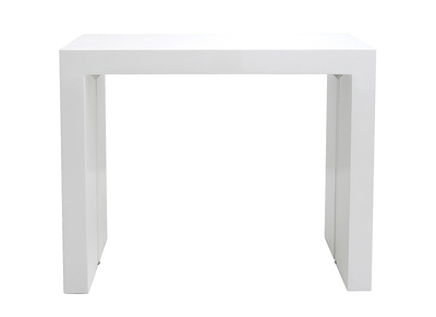 Table extensible design blanc brillant 40-185cm CALEB