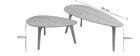 Tables basses chêne (lot de 2) ARTIK