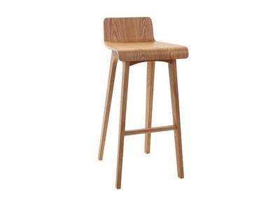 Tabouret / chaise de bar design bois naturel scandinave H75cm BALTIK