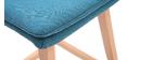 Tabouret de bar bois et bleu canard  65 cm (lot de 2) JOAN