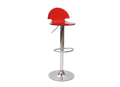 Tabouret de bar / cuisine design en plexiglas rouge transparent ORION