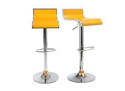 Tabouret de bar / cuisine jaunes design WAVES (lot de 2)