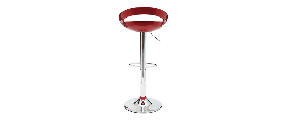 Tabouret de bar / cuisine moderne lie de vin COMET (lot de 2)