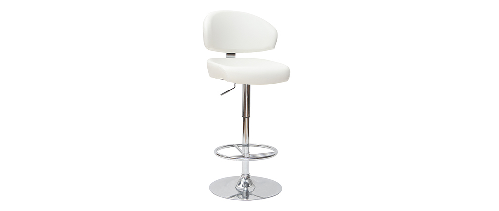 Tabouret de bar design blanc contemporain NEPTUNE