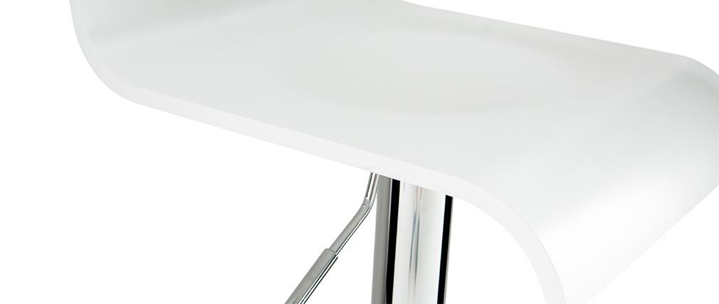 Tabouret de bar design blanc SURF