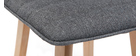 Tabouret de bar design bois et gris foncé 65 cm (lot de 2) EMMA