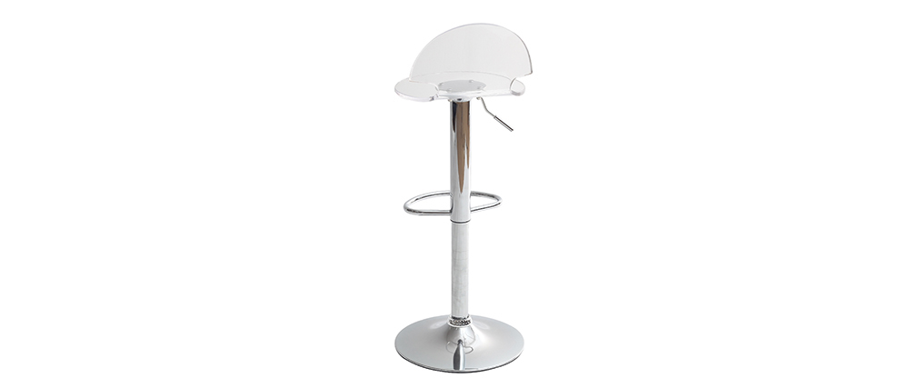 Tabouret de bar design en plexiglas transparent ORION