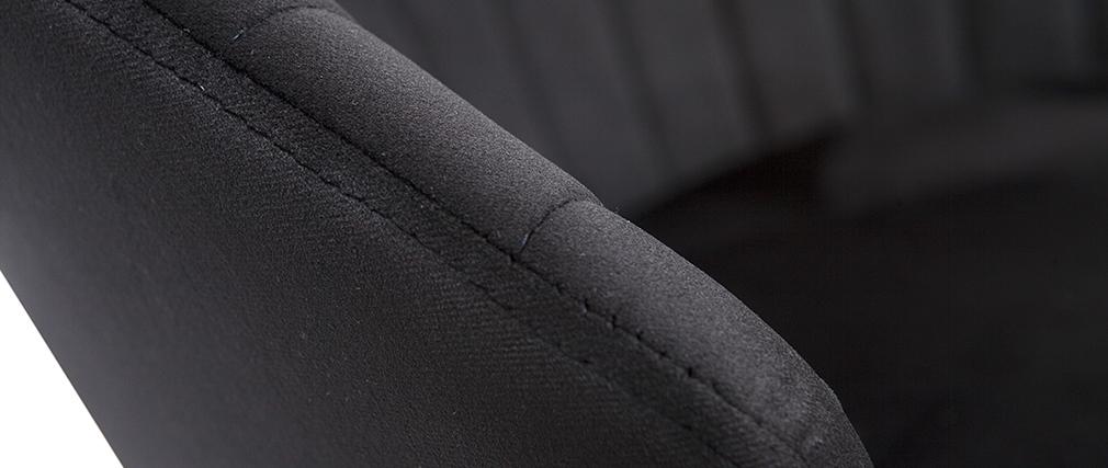 Tabouret de bar design en velours noir IZAAC
