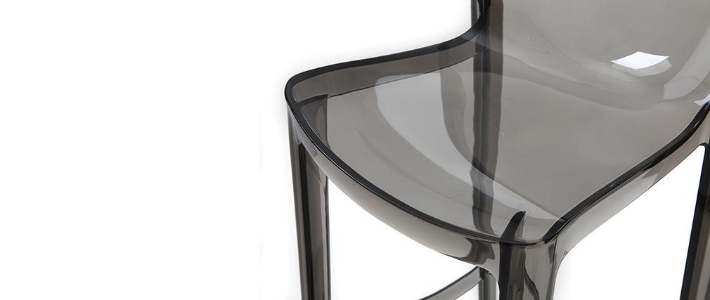Tabouret de bar design gris fumé lot de 2 YLAK