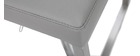 Tabouret de bar design gris KYLE