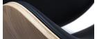 Tabouret de bar design noir et bois clair WALNUT
