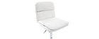 Tabouret de bar design PU blanc (lot de 2) CLARK