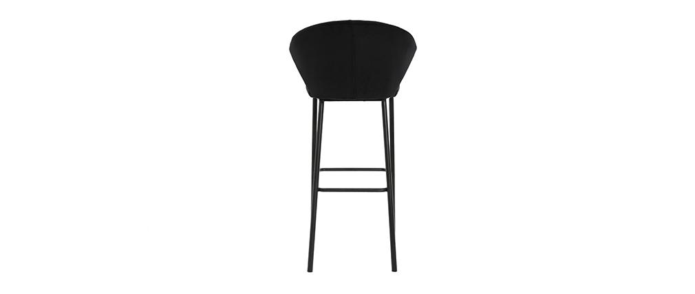 Tabouret de bar design velours noir DALLY - Miliboo & Stéphane Plaza