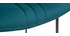 Tabouret de bar en velours bleu pétrole et métal H65 cm GOTHAM