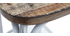 Tabouret de bar industriel en bois et métal vieilli blanc 75 cm JAKE