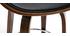 Tabouret de bar pivotant noir et bois foncé 65 cm BENT
