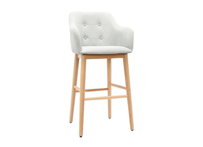 Tabouret de bar scandinave 75cm gris clair BALTIK