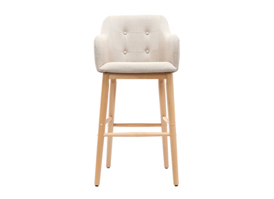 Tabouret de bar scandinave 75cm naturel BALTIK