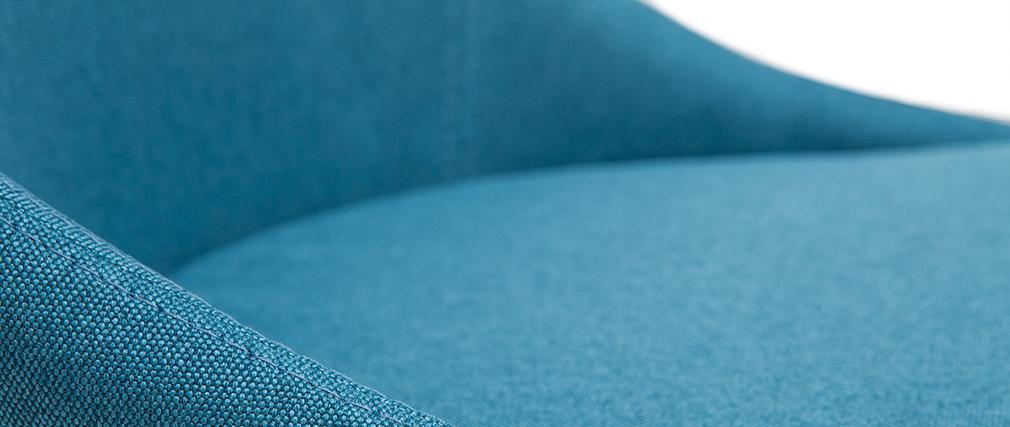 Tabouret de bar scandinave bleu canard et bois clair 65 cm DALIA