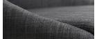 Tabouret de bar scandinave bois et tissu gris anthracite 75 cm DALIA