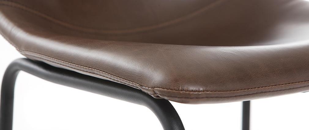 Tabouret de bar vintage PU marron 73 cm (lot de 2) NEW ROCK